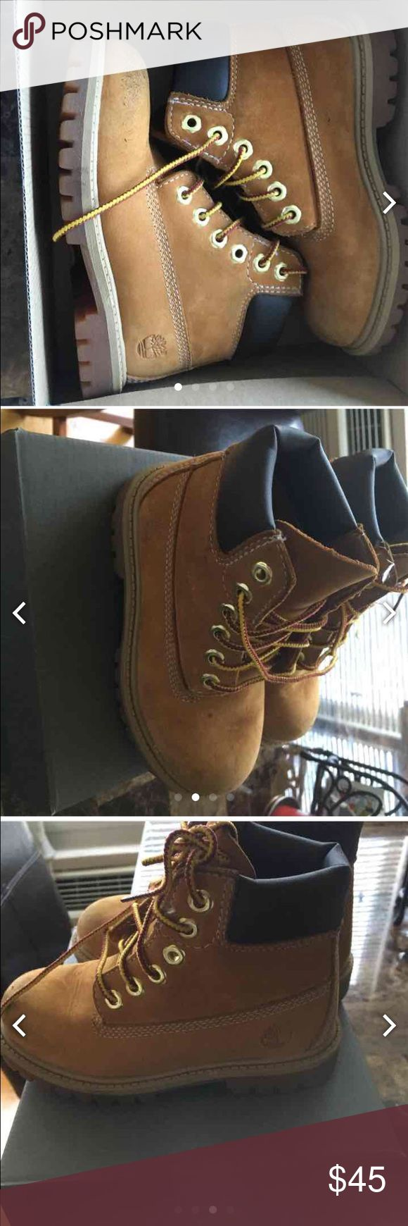 toddler timberland boots size 7.5c