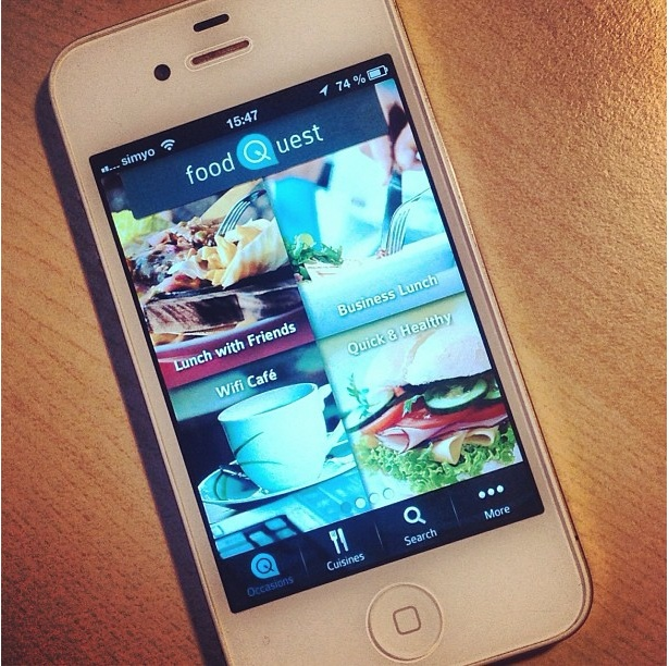 Download the brand-new foodQuest app from the App store and let the fun begin!!    #app #iphone #food #foodies #restaurants #find #rate #foodquest