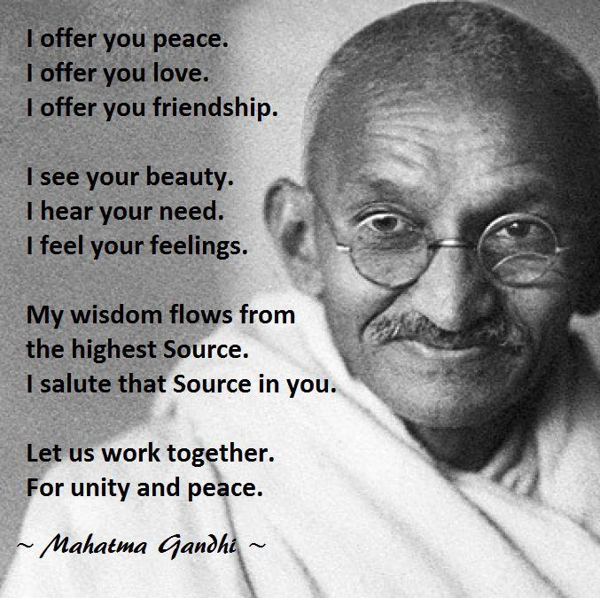 1000+ images about Quotes - Gandi on Pinterest   Gandhi, Ocean and ...