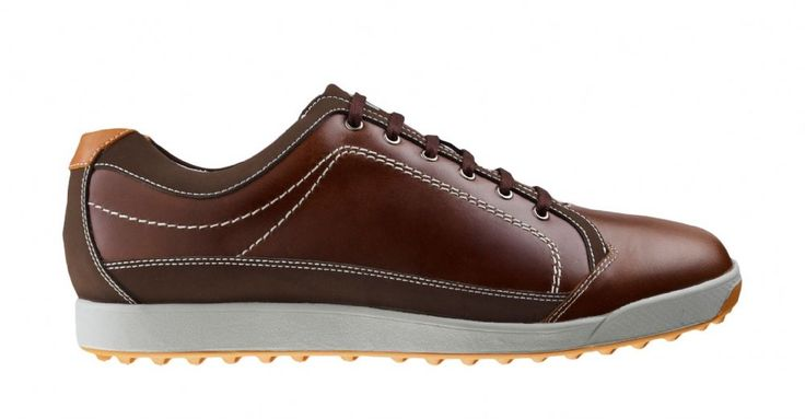 FootJoy Contour Casual Mens Golf Shoes - Brown Orange - 54222 - M Width - Includes a Free Two Pack of FootJoy Socks