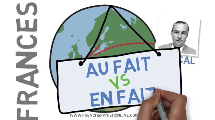 Au fait vs En fait en Francés