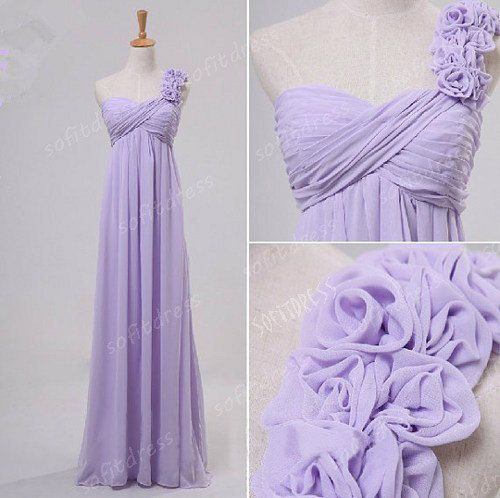 Lavender Bridesmaid Dress One Shoulder By Sofitdress Gettin Hitched Pinterest Dresses Prom And