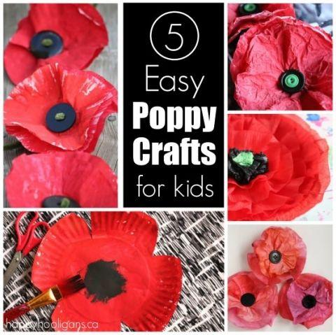 5 poppy crafts for kids