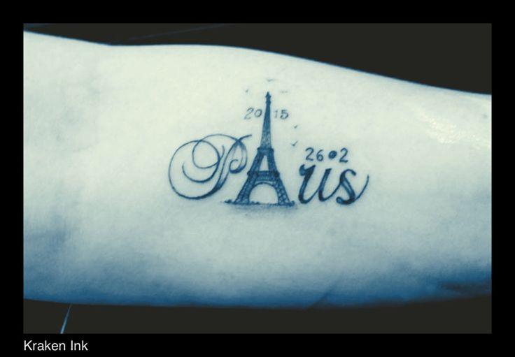 Kraken-ink.co.uk To commemorate the Paris marathon ran by this customer.