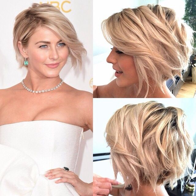 Short beach waves hair a-line blond