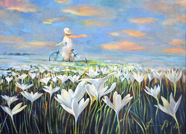 Александр Елисеев. Цветочное утро, 2010   Холст, масло, 50 х 70 см, +багет