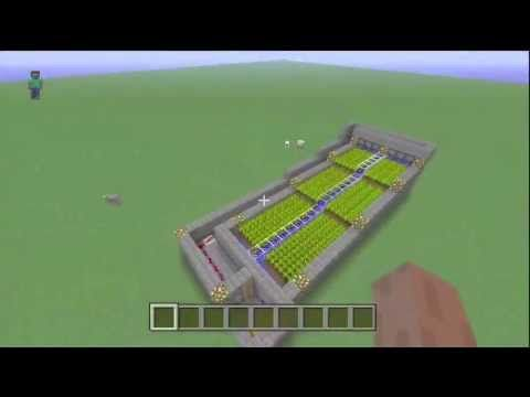 How To Build An Automatic Wheat Farm In Minecraft : Xbox 360 Edition & PS3 Edition! - YouTube