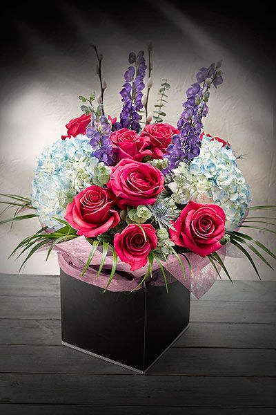 Beautiful gifts this Mother's Day. Simply Better Hand Tied Hydrangea & Cherry Oh Rose Gift Bouquet €45.