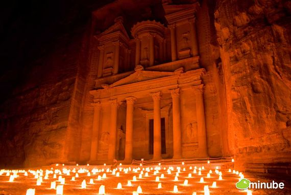 8) Petra, Jordan: Of all the world's great ancient cities, Petra stands in a league of its own. Set in the midst of a epic, wind-swept desert, Petra's monumental rock-cut buildings must be seen to be believed. (Photo by Husar 77)