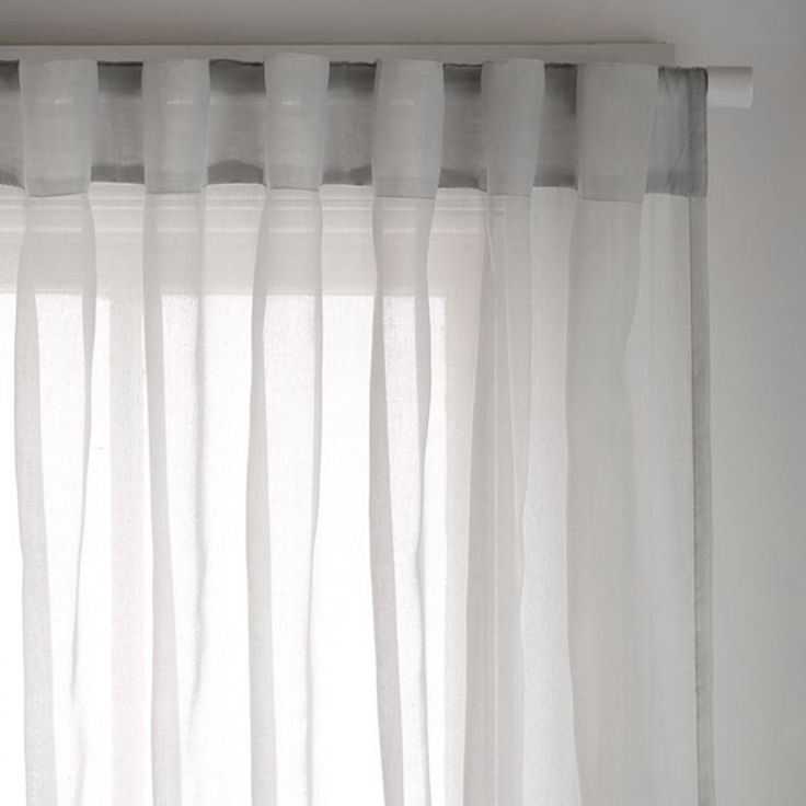 cohen silver sheer 180x250cm concealed tab top curtain