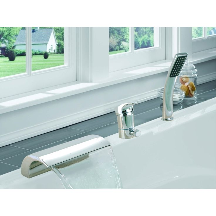 Sumerain SUM-S2096CW Universal Chrome  One Handle with Handshower Roman Tub Faucets |eFaucets.com