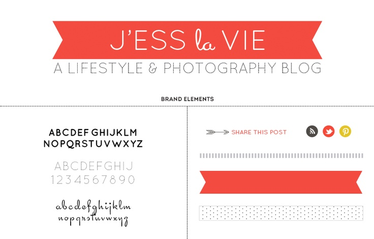 j'ess la vie blog redesign by amanda genther: Cleaning Fonts, Polka Dots, Life, Amanda Genther, Graphics Design, San Serif, Branding Identity, Cleaning San, Blog Redesign
