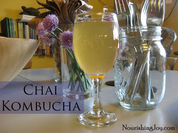 CHAI KOMBUCHA   Per quart of kombucha:  **1 quart plain kombucha--------  **10 whole cardamom pods---------  **1 cinnamon stick----------  **1-inch fresh ginger, cut into matchsticks----------