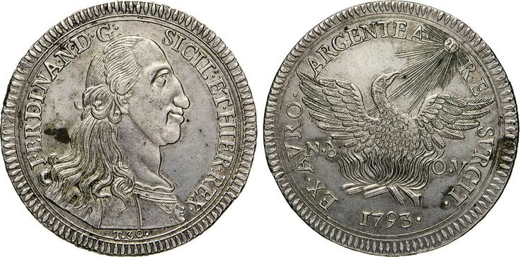 NumisBids: Numismatica Varesi s.a.s. Auction 65, Lot 543 : PALERMO - FERDINANDO III DI BORBONE (1759-1816) Oncia da 30 Tarì...