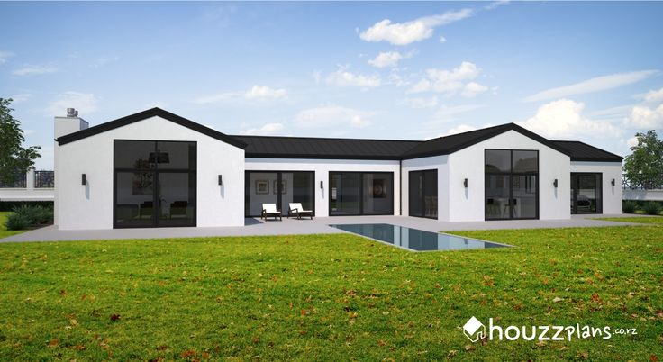 Oparah - Modern Contemporary House Plan .... Browse all house plans here: www.houzzplans.co.nz