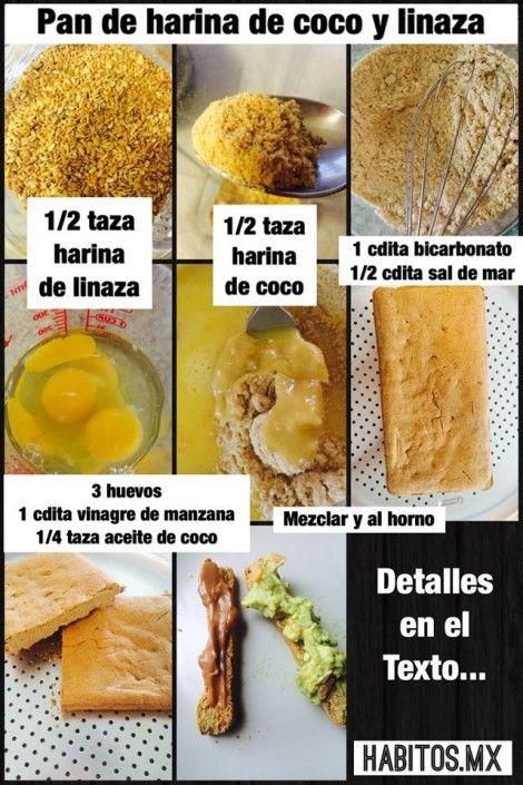 PAN DE HARINA DE COCO Y LINAZA