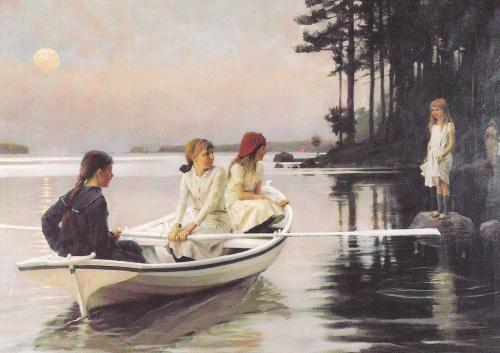 Kesäiltana by Finnish Painter Albert Edelfelt