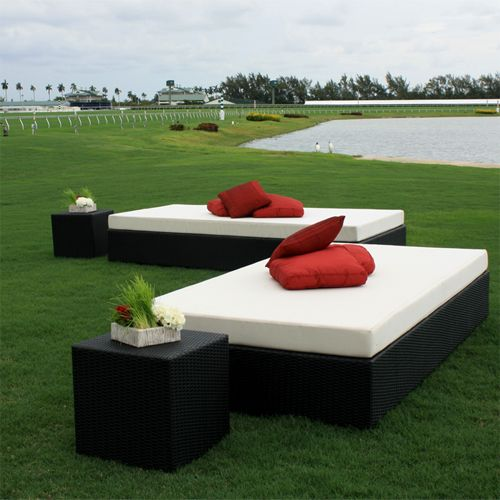 These Black Woven Day Beds can offer your guests a great place to relax. Perfect for any event!