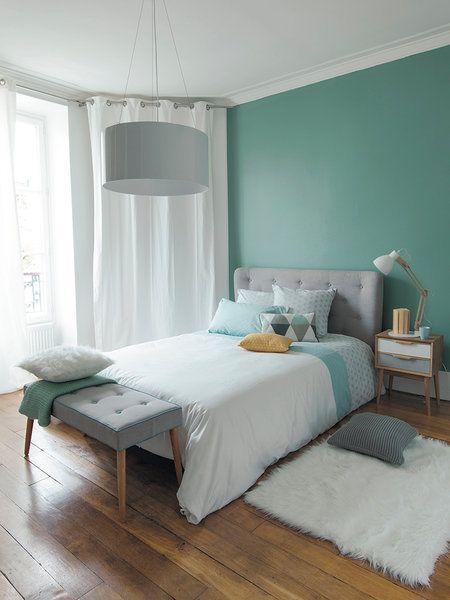 Dormitorio en verde menta                                                                                                                                                     Más