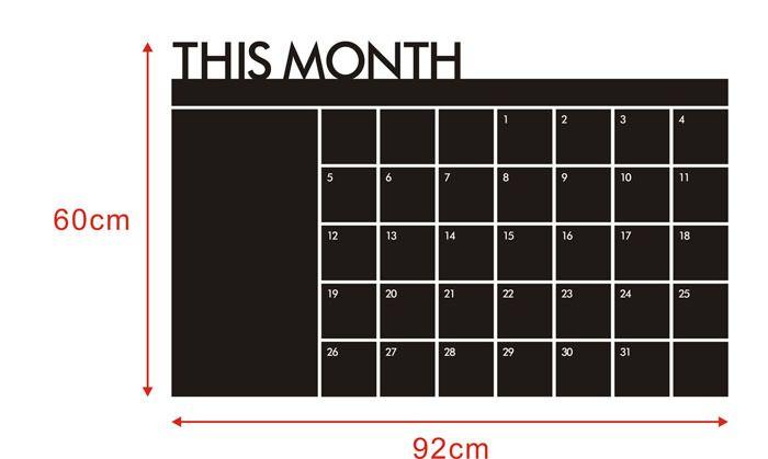 Aliexpress.com: Comprar Superb! 60 x 92 meses Plan calendario MEMO pizarra pizarra vinilo pared pegatina entrega gratuita y venta al por mayor Alipower de pegatinas de aceite fiable proveedores en Alipower