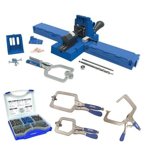 Kreg K5MS-KREG Jig K5 Wood Clamp w/ Pocket-Hole Screw Kit & 3 Clamp Bundle