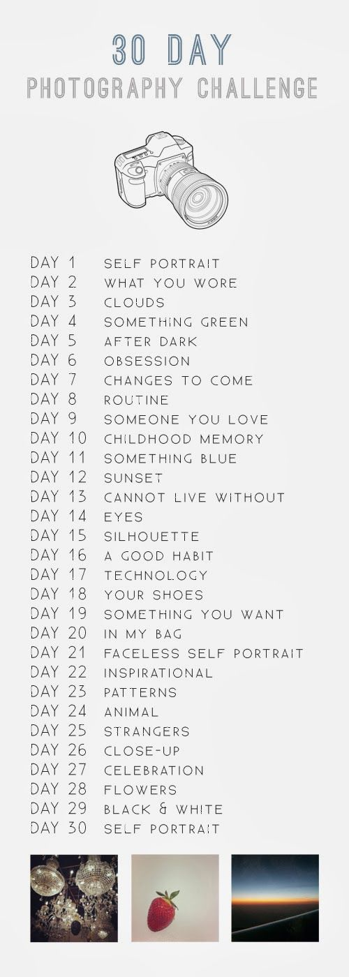 30 Day Photo challenge. I'm doing this ohe starting tomorrow :-)