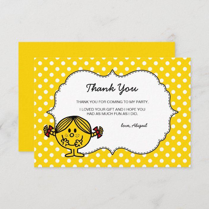 Little Miss Sunshine Yellow Birthday Thank You Zazzle Com In 2021 Little Miss Sunshine Yellow Birthday Birthday Thank You