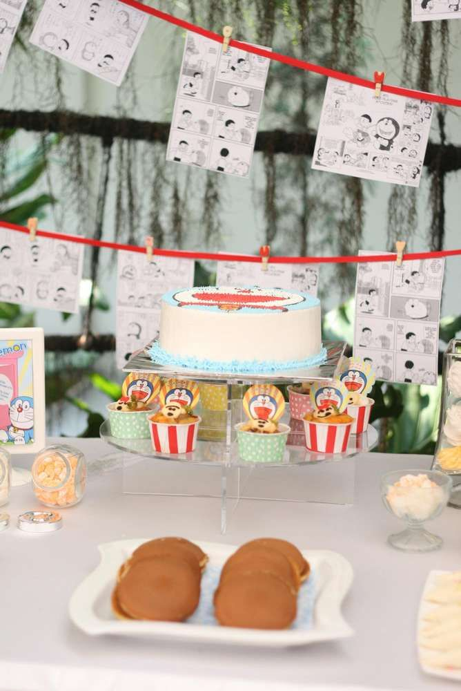 Doraemon Party Birthday Party Ideas | Photo 9 of 15 | Catch My Party