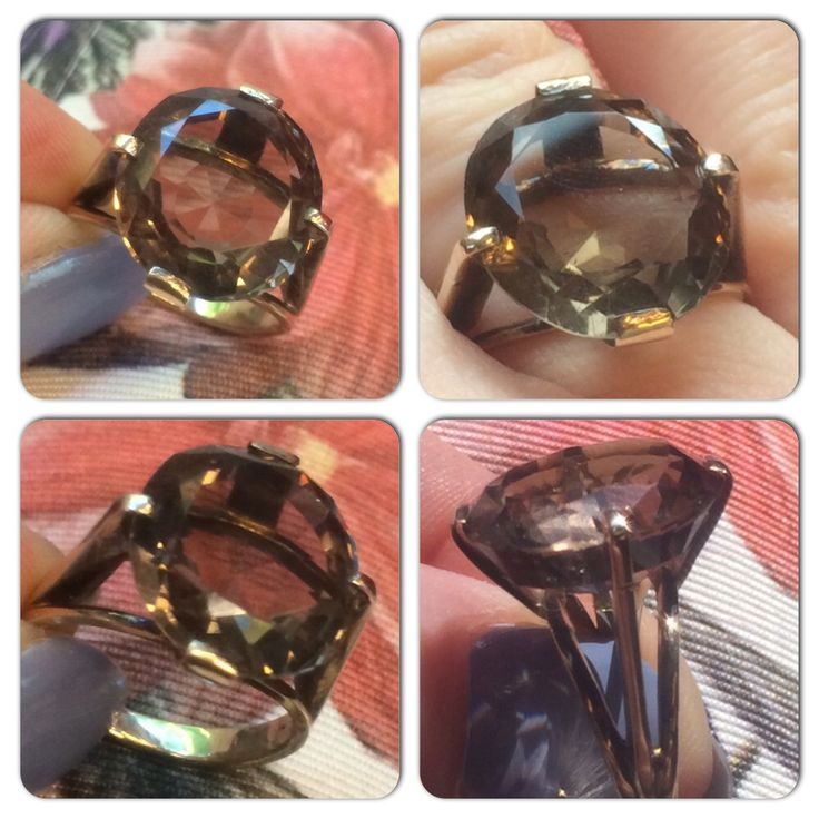 I call this the big one! #1960s #smokeyquartz #ring there's an even bigger one going in the #etsy shop soon #vintageprettythings #vintageprettyrings #gold #showmeyourrings #recycledglamour #ecochic #eco #recycle #retro #vintage #vintagelove #vintagepinterest  #vintageprettypins