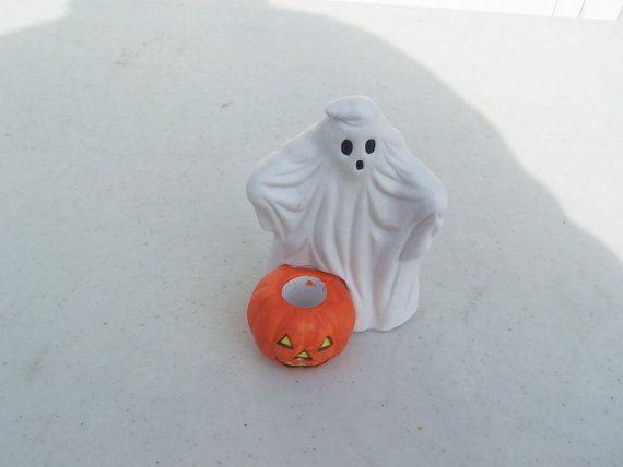 Vintage retro Halloween china ghost pumpkin JOL jack o'