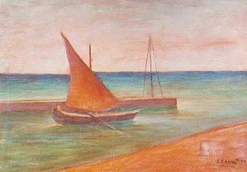 Carlo Carra,  Viareggio Fine Art Reproduction Oil Painting