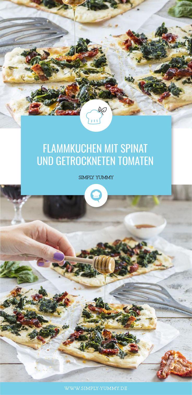 Tarte mit Spinat und getrockneten Tomaten – Alle Rezepte von SIMPLY YUMMY