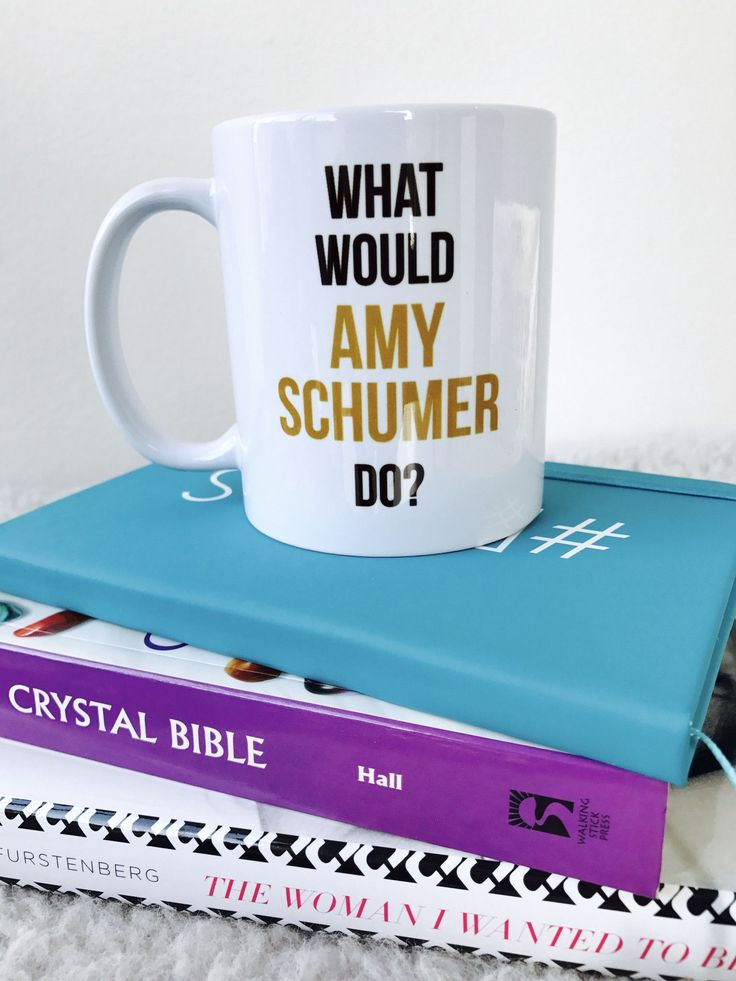 What Would Amy Shumer Do | black and gold coffee mug
