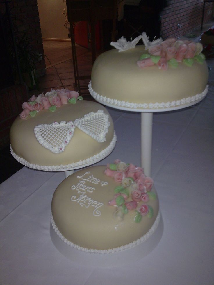 Traditional wedding cake (marsipan) made for good friends of ours.