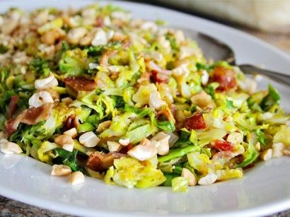 Sauteed Brussels Sprouts with Bacon & Cashews   Tasty Kitchen: A Happy Recipe Community!