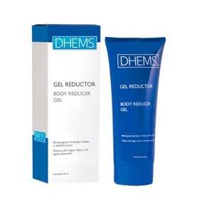 Dhems Gel Reductor  200ML ayuda a combatir la grasa localizada. estimula la síntesis de colágeno, aumenta la elasticidad y firmeza de la piel. favorece la eliminación de toxinas. optimiza el uso de los parches reductores.