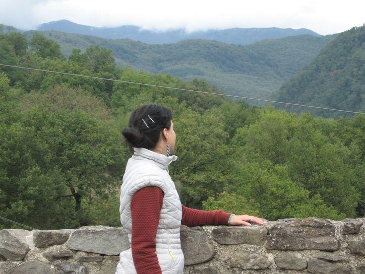 #Pontremoli #Lunigiana Affacciata sulla terrazza panoramica del Catello del Piagnaro.