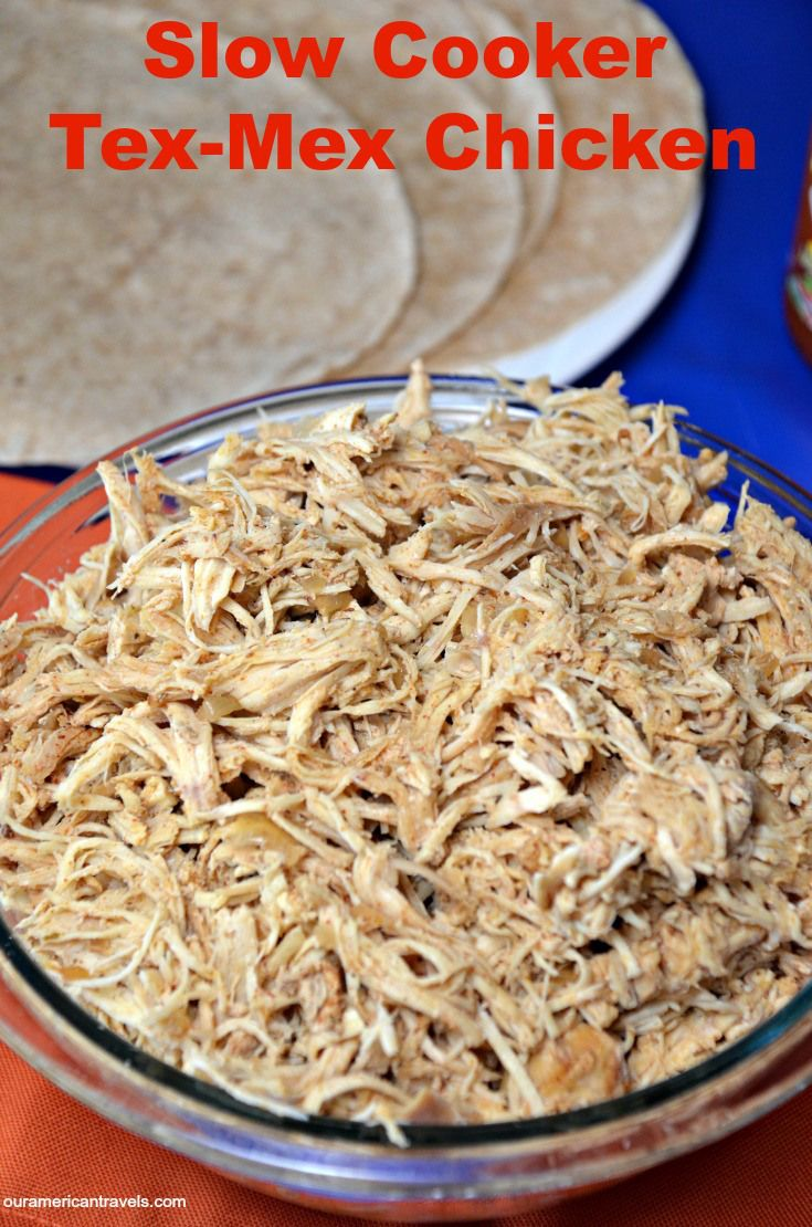 Shredded Tex-Mex Crock-Pot Chicken Recipe — Dishmaps
