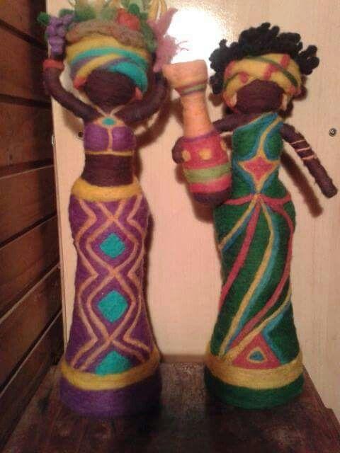 Mujeres africanas fieltro