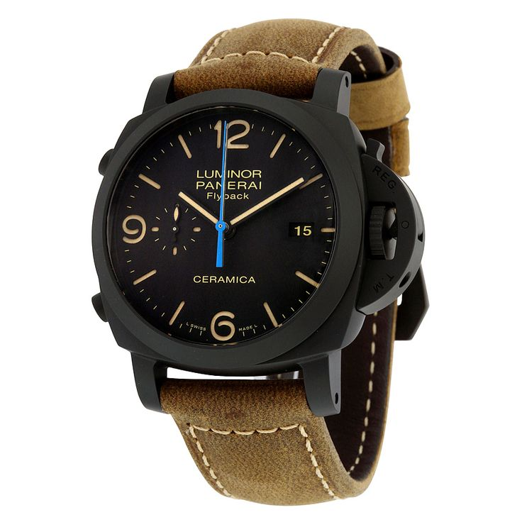 Panerai Luminor 1950 3 Days Chrono Flyback Black Dial Automatic Men's Watch PAM00580 - Luminor 1950 - Panerai - Shop Watches by Brand - Jomashop
