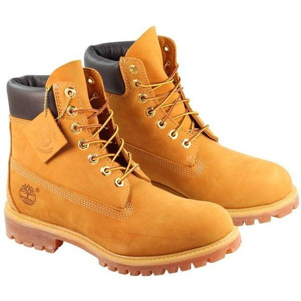Timberland Boots Mens 6 Inch Prem Wheat ($73) ❤ liked on Polyvore featuring men's fashion, men's shoes, men's boots, men's work boots, mens work boots, mens water proof boots, timberland mens work boots, mens waterproof boots and mens boots
