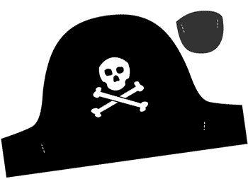 sombrero pirata para imprimir gratis