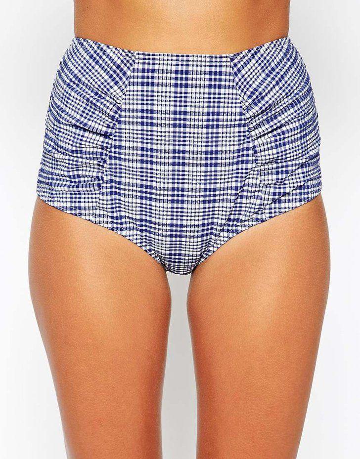 Pin for Later: You'll Never Guess Where Taylor Swift Got Her Seersucker Bikini  ASOS Seersucker High Waisted Bikini Bottom ($33)