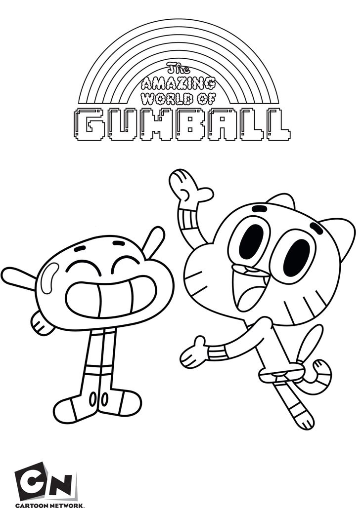 amazing world gumball coloring pages | Gumball and Anais - The Amazing World Of Gumball coloring ...