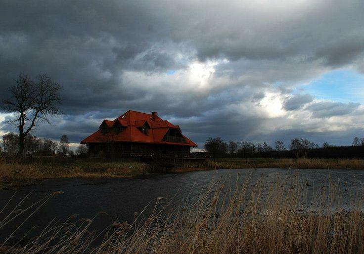 Windy day in Kiermusy (Poland)