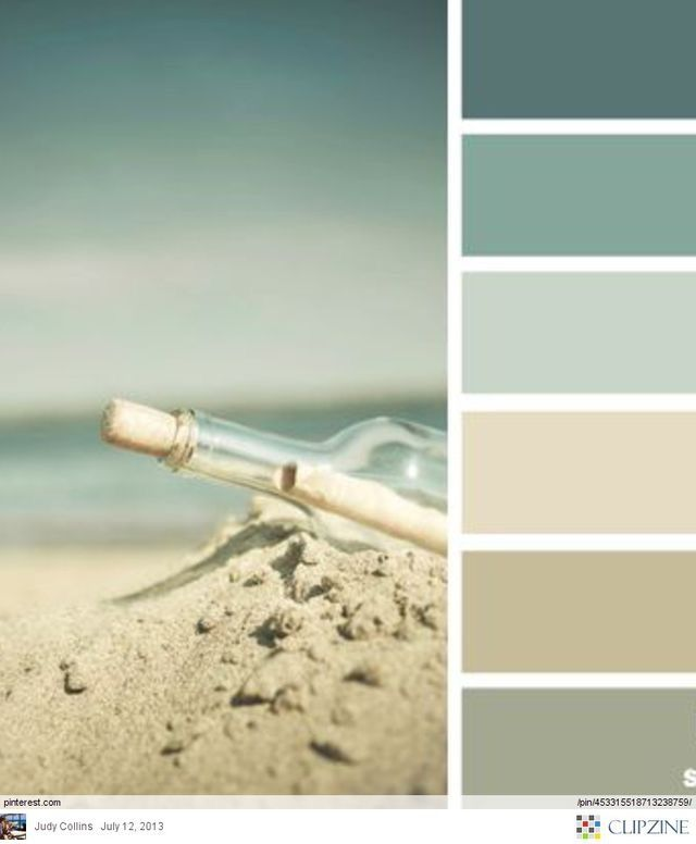 Beachy colors - Nice for a bedroom or bathroom. Flattering colors for a  bathroom and relaxing for a bedroom.