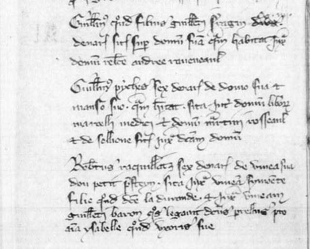 Registre des Baptêmes-Mariages-Sépultures de Givry, 1335-1350 - le plus ancien registre de France | © Archives Départementales de Saône-et-Loire (71)