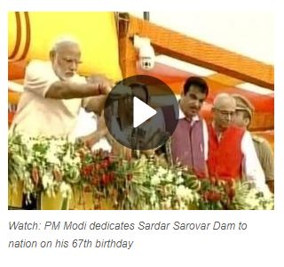 "GANDHINAGAR: Prime Minister Narendra Modi inaugurated 138-metre Sardar Sarovar Dam on the Narmada river on Sunday, saying ""no other project in the world has faced so many hurdles"".   Get #NarendraModi & #BJP #latestnews and #updates with - http://nm4.in/dnldapp http://www.narendramodi.in/downloadapp. Download Now."