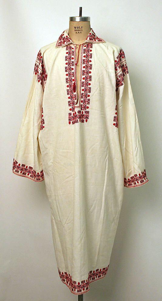Shirt Date: 1900–1981 Culture: Romanian Medium: cotton