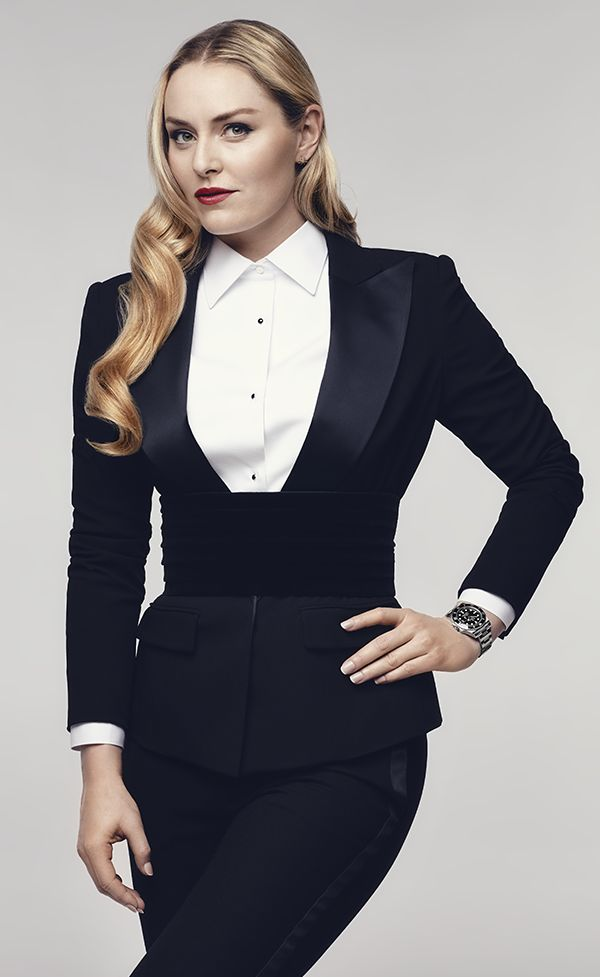 """""""I think that I was put on this earth to be a ski racer and once I have accomplished everything I can in my sport, I will move on to trying to help other girls accomplish their dreams as well"""". Lindsey Vonn, Rolex Testimonee, wearing a Rolex Submariner Date."""